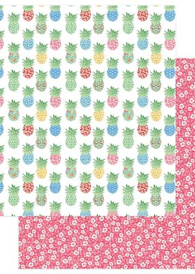 Photo Play Paper Company 12 x 12 Paper Aloha Pineapple Grove