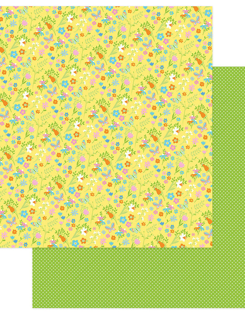 Photo Play Paper Company 12 x 12 Paper Bunny Trail Spring Flowers