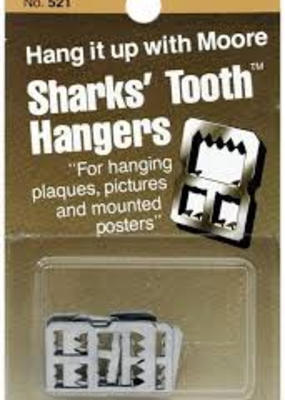 Moore Moore Sharks' Tooth Hangers Saw Tooth Hngr 4pc