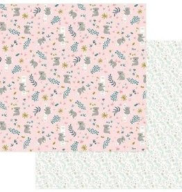 Photo Play Paper Company 12 x 12 Paper Snuggle Up Hanging Around Pink