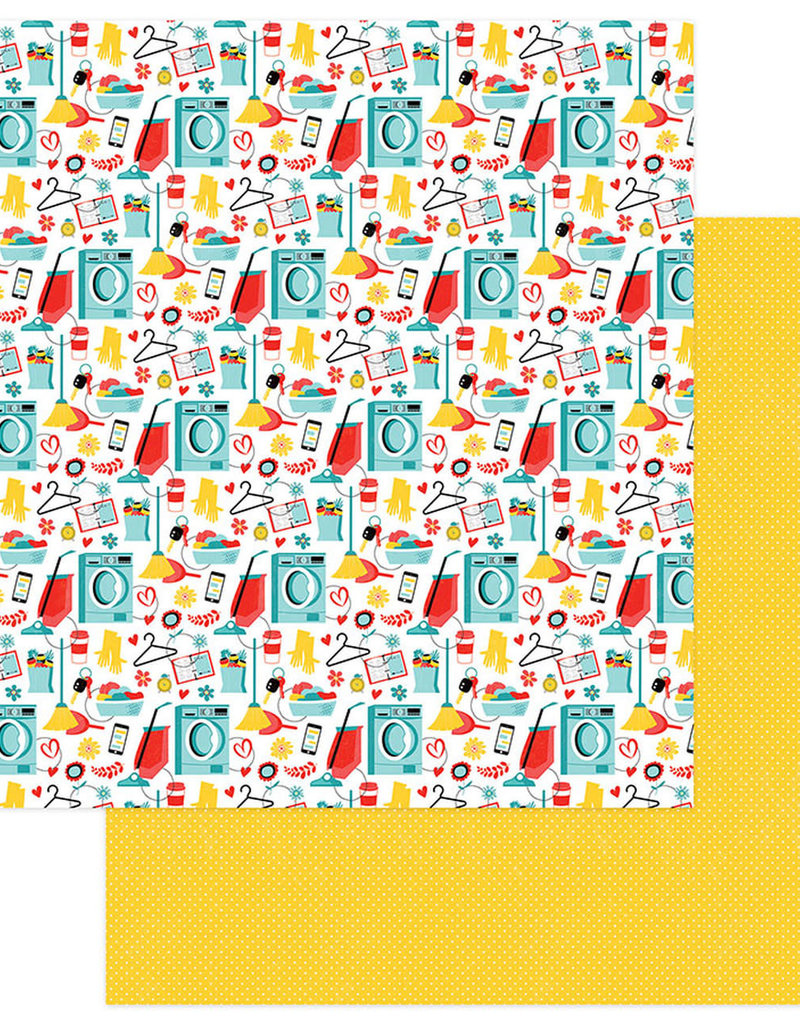 Photo Play Paper Company 12 x 12 Paper Best Mom Ever Busy Mom