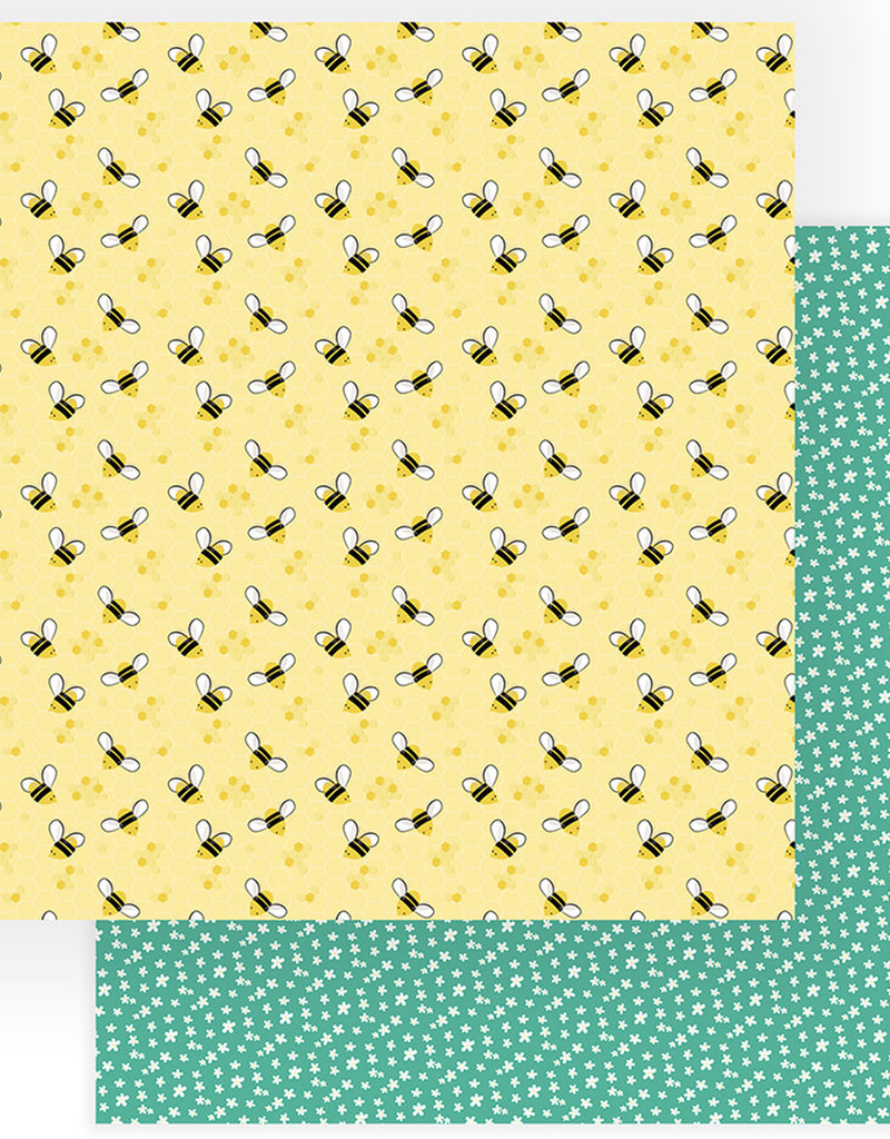 Photo Play Paper Company 12 x 12 Paper Tulla and Norbert Honey Bees