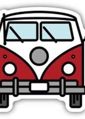 Stickers NW Sticker Camper Van Red