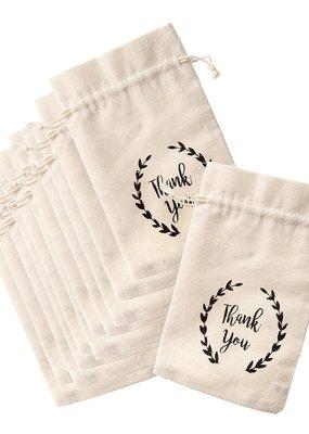 David Tutera Drawstring Thank You Favor Bags 12 Piece Pack