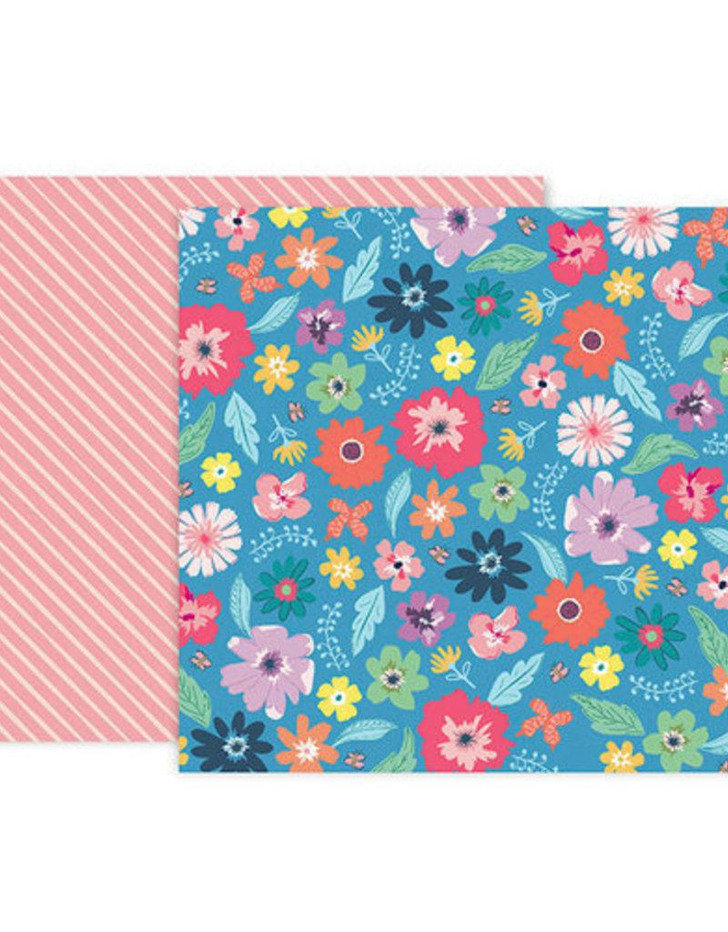 Pink Paislee 12 x 12 Paper  Pink Paislee Whimsical #14