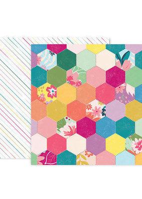 Pink Paislee 12 x 12 Paper  Pink Paislee Whimsical #5