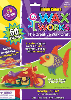 Pacon Wax Works 50 Piece Pack Bright Hues