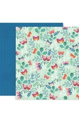 Pink Paislee 12 x 12 Decorative Paper Pink Paislee Truly Grateful 05