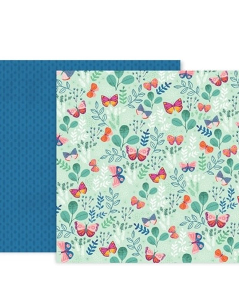 Pink Paislee 12 x 12 Paper Pink Paislee Truly Grateful 05