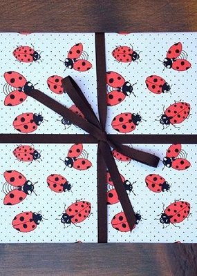 Noteworthy Wrap Sheet Lady Bugs