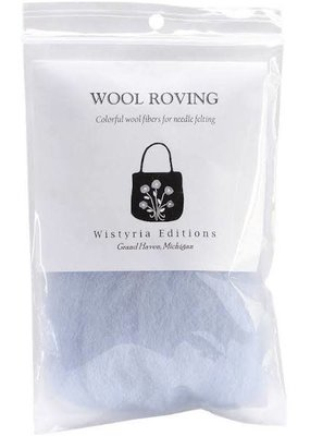 Wistyria Editions Wool Roving Single Pack Pale Blue