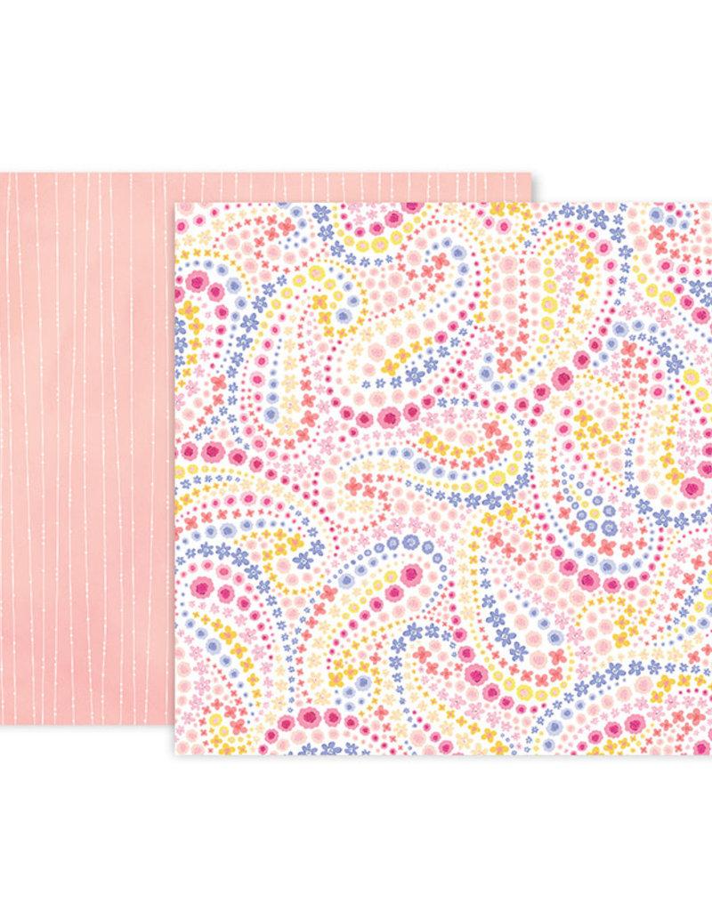 Pink Paislee 12 x 12 Paper Bloom Street 18