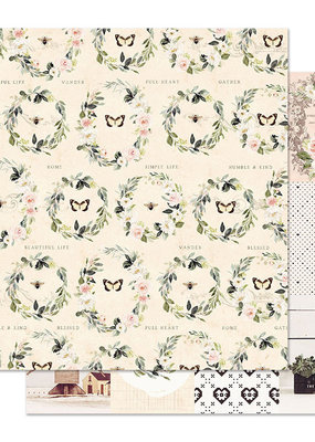 Prima Marketing 12x12 Paper Spring Farmhouse Full Heart