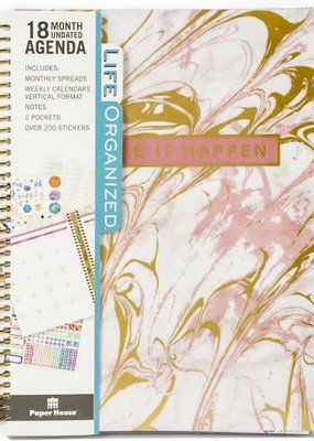 Paper House Planner 18 Month Undated Pink Marble