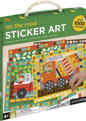 Petit Collage On the Road Sticker Art Set