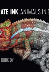 Pomegranate Coloring Book Intricate Ink Animals in Detail