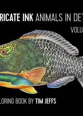 Pomegranate Coloring Book Intricate Ink Animals in Detail Volume 3