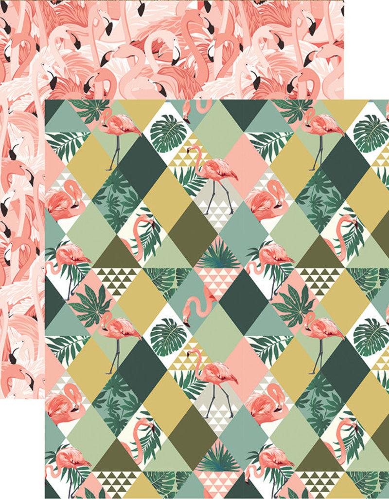 Reminisce 12 X 12 Decorative Paper Florida Pretty In Pink
