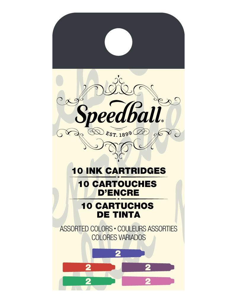 Speedball Calligraphy Fountain Cartridge Assorted Colors