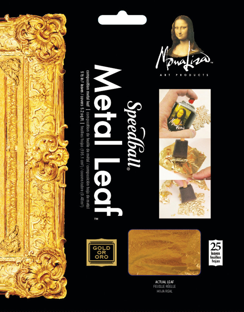 Mona Lisa Metal Leaf Gold 5.5 x 5.5 Inch 25 Sheets
