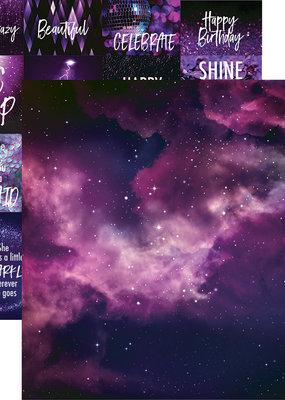 Reminisce 12 X 12 Decorative Paper Violet Sky
