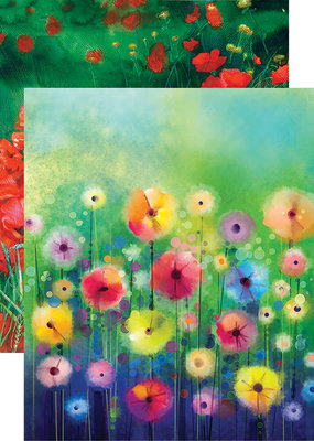 Reminisce 12 X 12 Decorative Paper Watercolor Garden