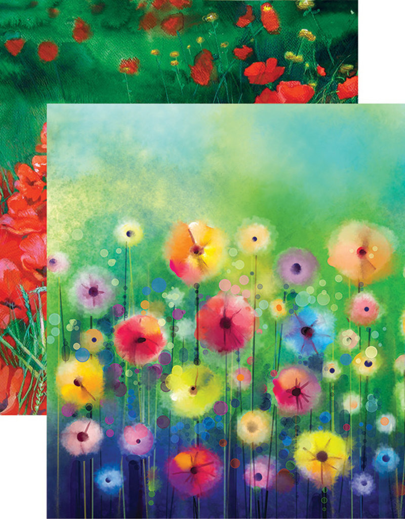 Reminisce 12 X 12 Decorative Paper Watercolor Garden