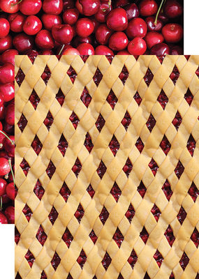 Reminisce 12 X 12 Decorative Paper Cherry Lattice
