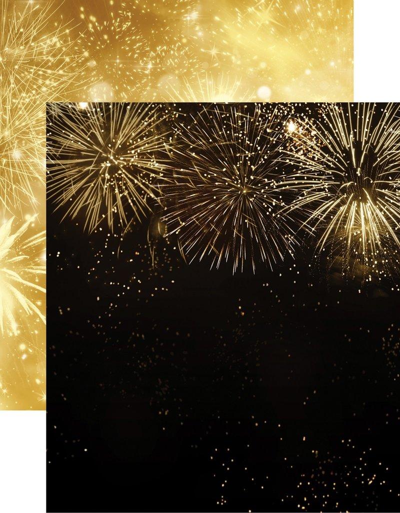 Reminisce 12 X 12 Decorative Paper Fireworks