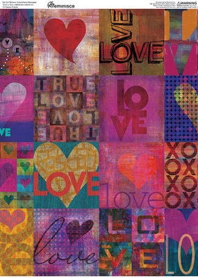 Reminisce 12 X 12 Decorative Sticker Paper Love Is Love