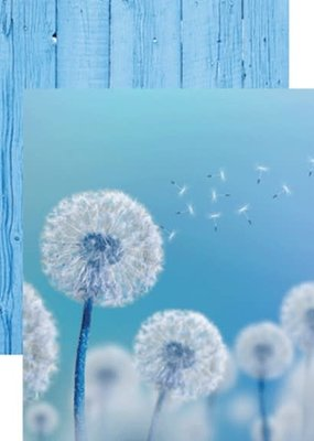 Reminisce 12 X 12 Decorative Paper Dandelion Wish