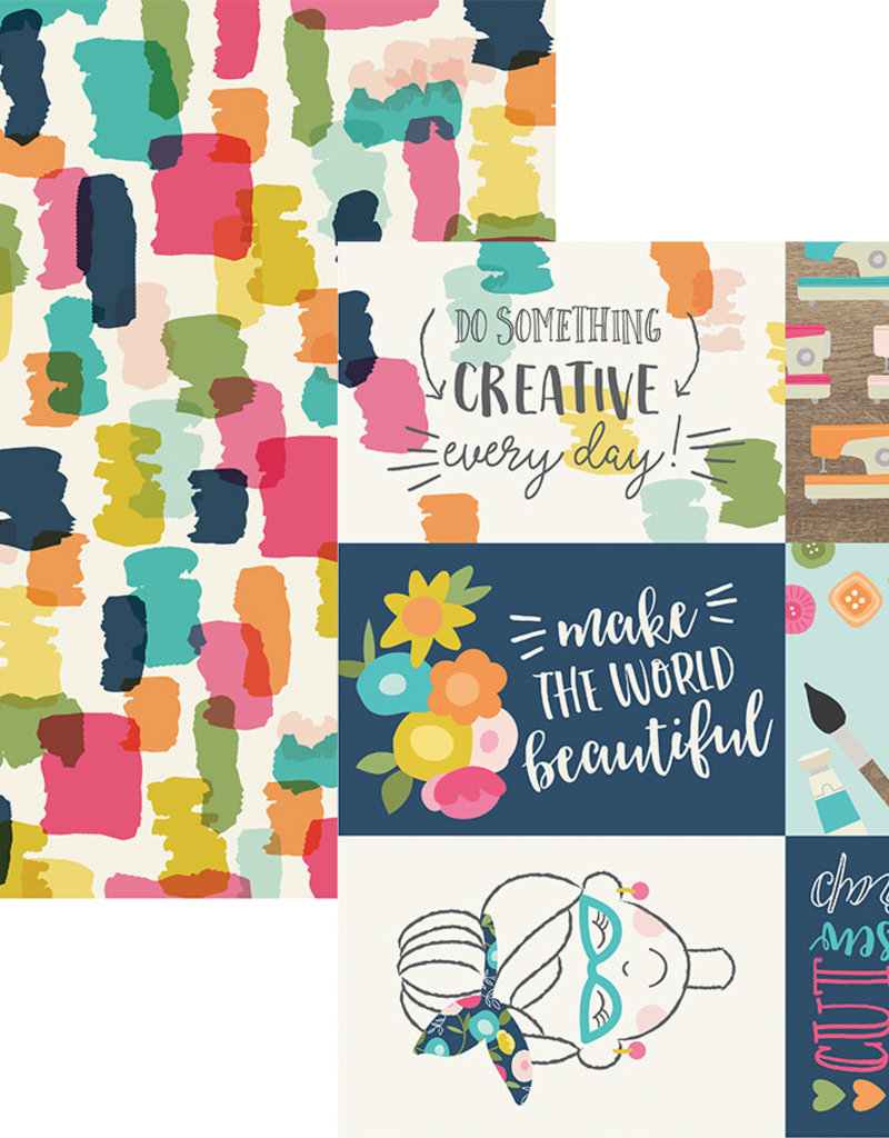 Simple Stories 12 x 12 Paper Crafty Girl Horizontal Elements