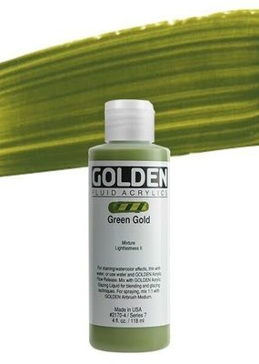 Golden Golden Fluid Acrylic Green Gold 4 Ounce