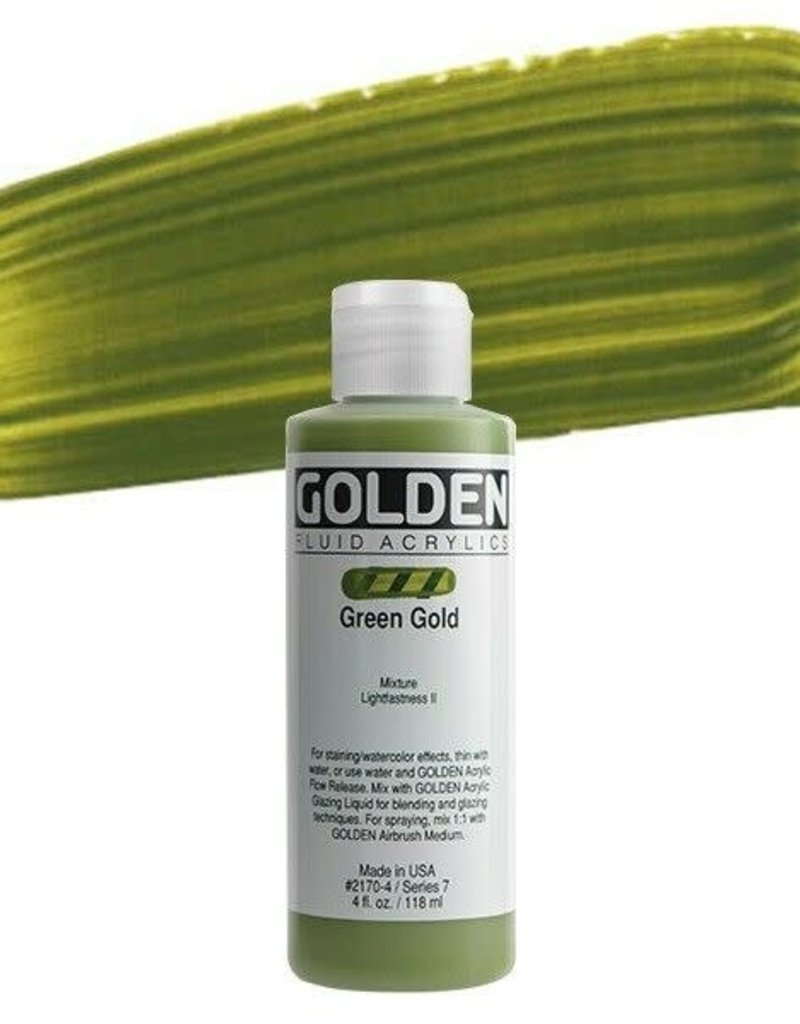 Golden Golden Fluid Acrylic Green Gold 4 Ounce