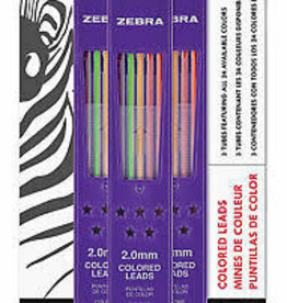 Zebra Zensations Colored Lead Refills 24 Colors 30 Leads