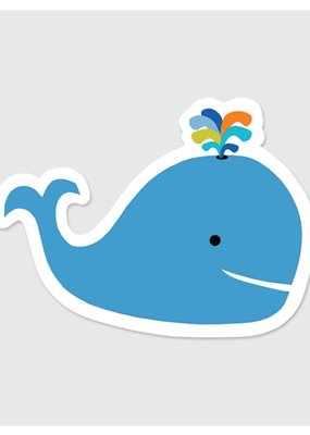 Rock Scissor Paper Sticker Colorful Whale