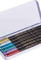 edding edding 1200 Fiberpens Metallic Tin of 6 Colors