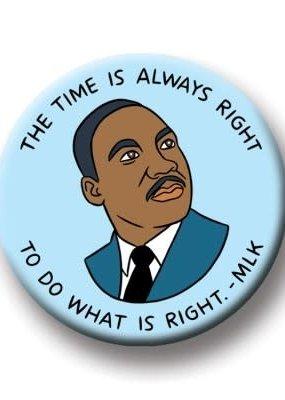The Found Round Magnet MLK