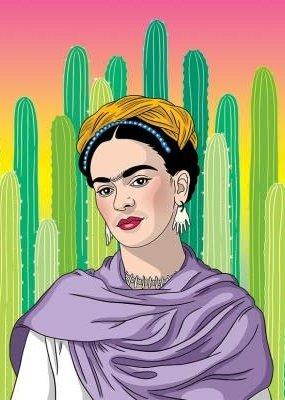 The Found Magnet Frida Cacti