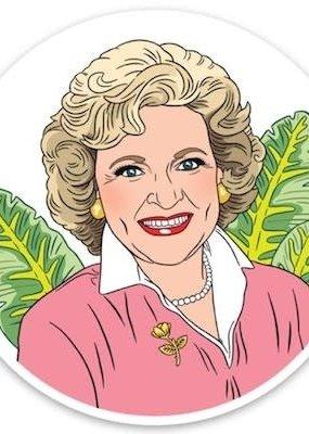 The Found Sticker Betty White