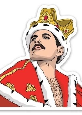 The Found Sticker Freddie Mercury