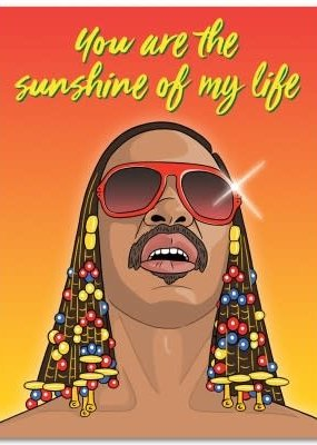 The Found Card Stevie Wonder You Are The Sunshine