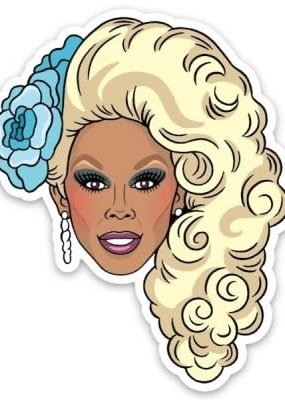 The Found Sticker RuPaul