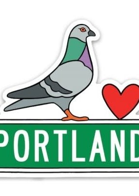The Found Sticker Portland Pigeon