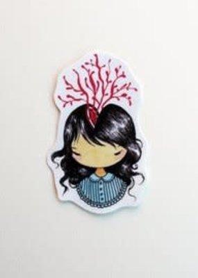 Stasia Burrington Sticker Little Headache