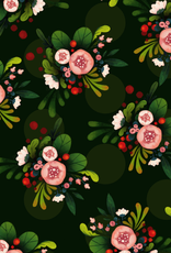 The Little Red House Wrap Sheet Pink and Black Floral