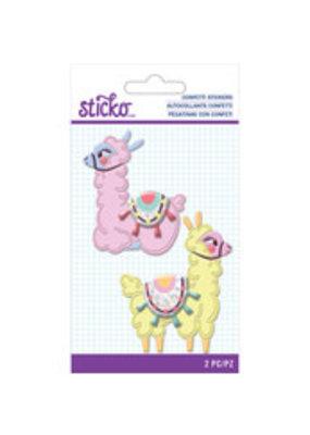 Sticko Confetti Sticker Llama