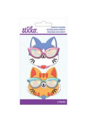 Sticko Confetti Sticker Cat Glasses