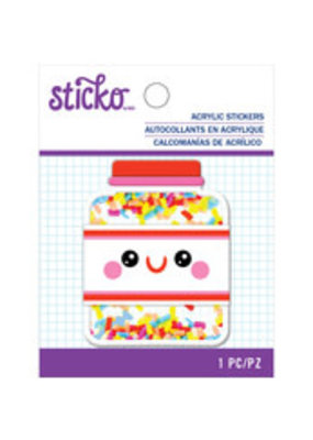 Sticko Acrylic Sticker Sprinkles Jar