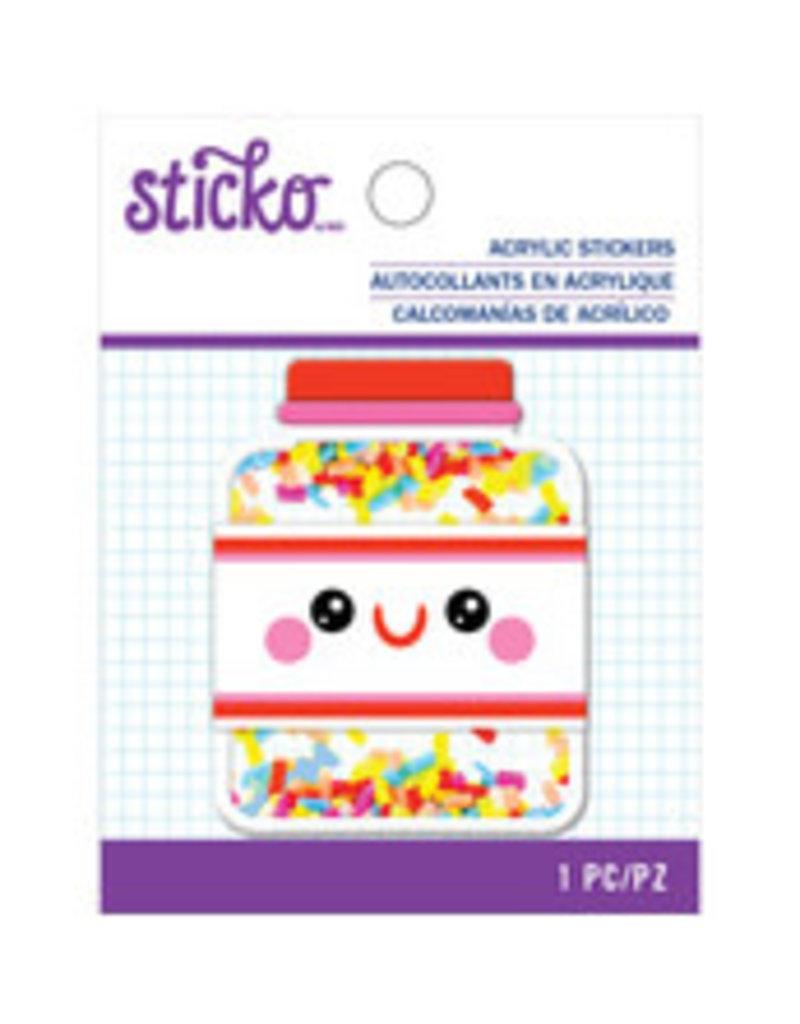 Sticko Acrylic Sticker Sprinkles Jar